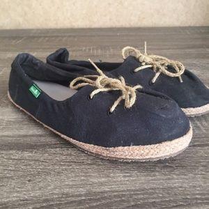 Sanuk Womens Mochi Sidewalk Surfers Footwear Black